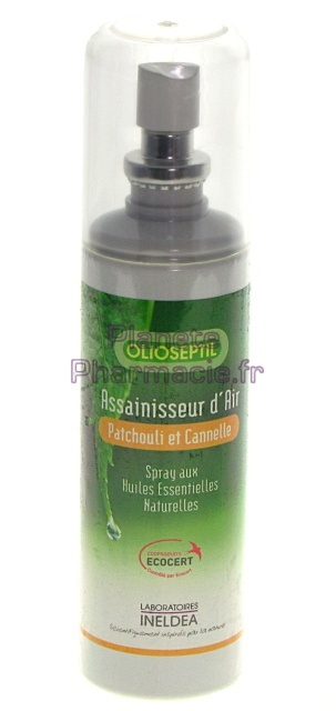 anti acariens assainissants olioseptil assainisseur d 39 air bio patchouli et cannelle 125ml. Black Bedroom Furniture Sets. Home Design Ideas
